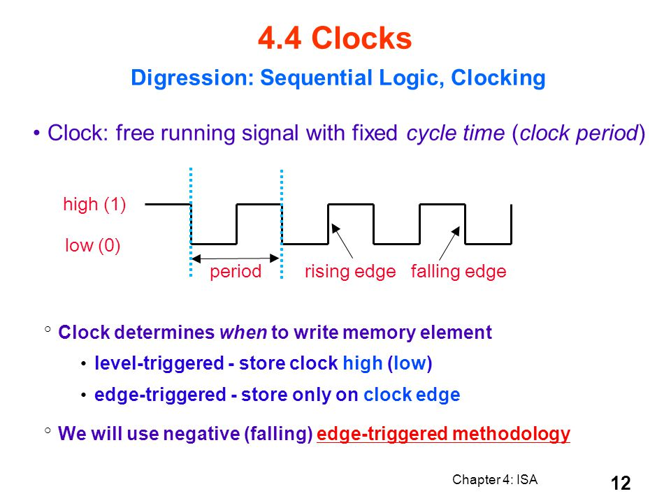 Digression: Sequential Logic, Clocking