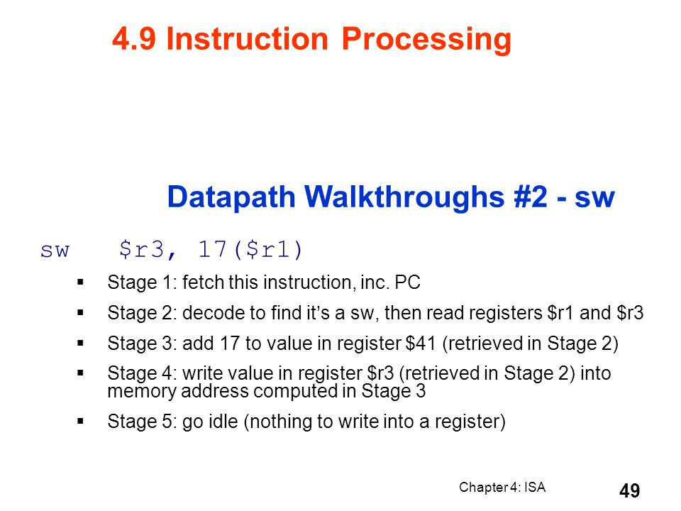 Datapath Walkthroughs #2 - sw