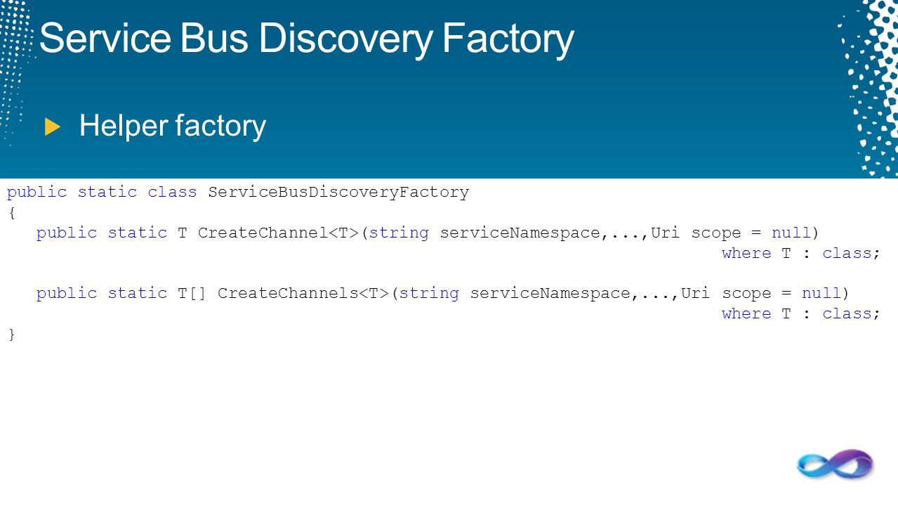 Service Bus Discovery Factory