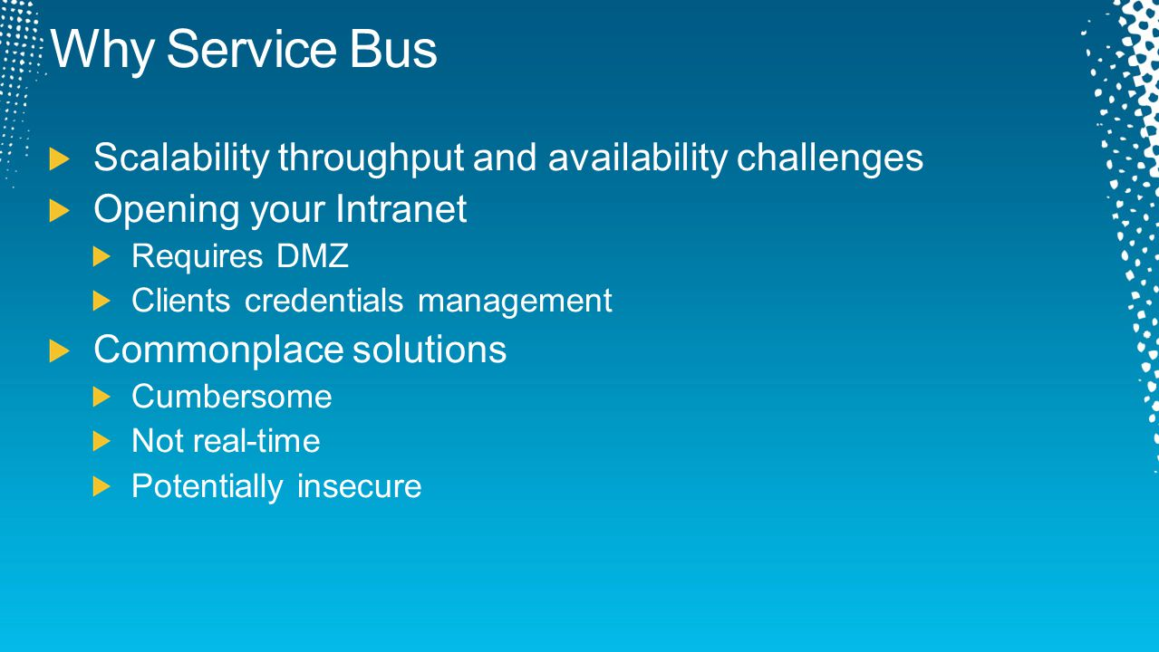 Why Service Bus Scalability throughput and availability challenges