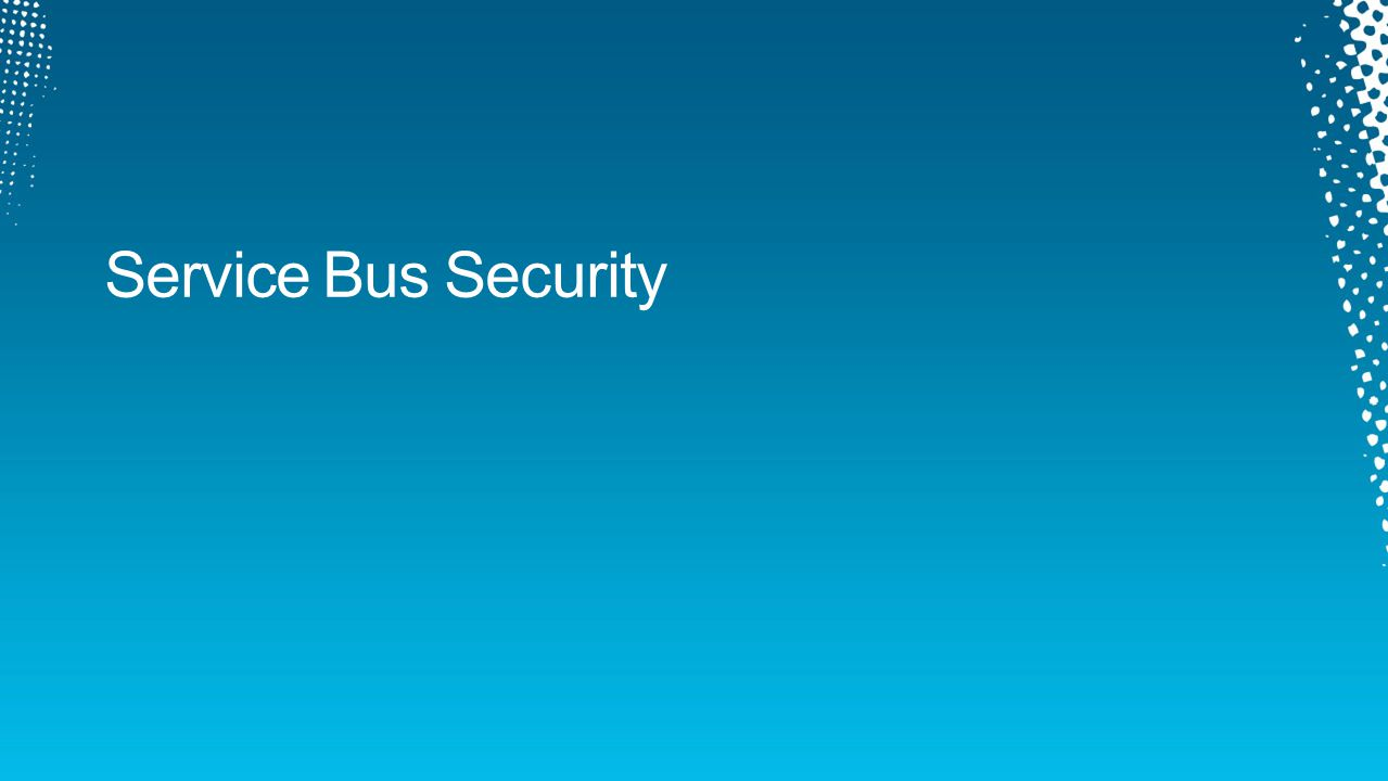 Service Bus Security