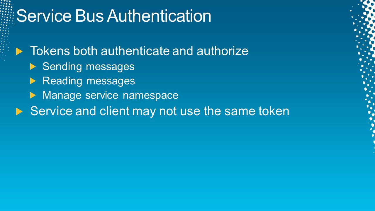 Service Bus Authentication