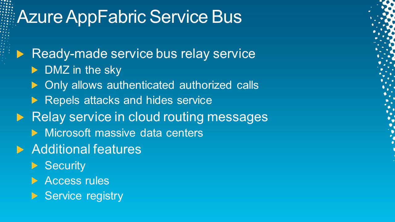 Azure AppFabric Service Bus