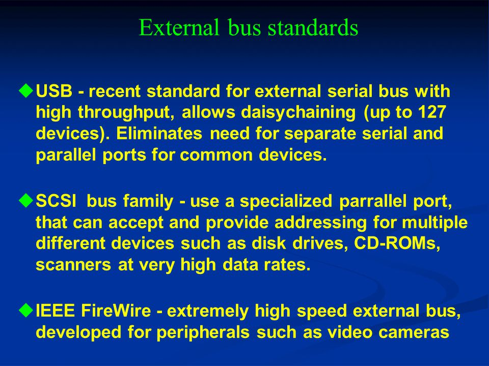 External bus standards