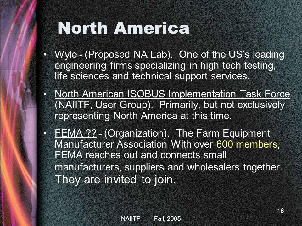 ISOBUS Fall, 2005. North America.