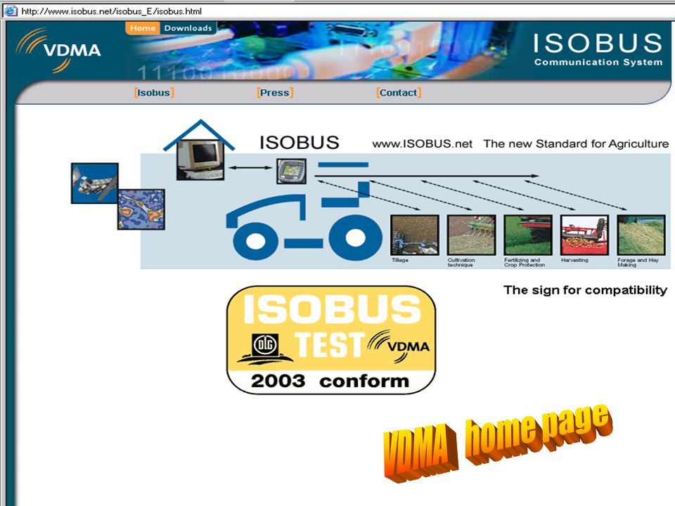 ISOBUS Fall, 2005 VDMA home page NAIITF Fall, 2005