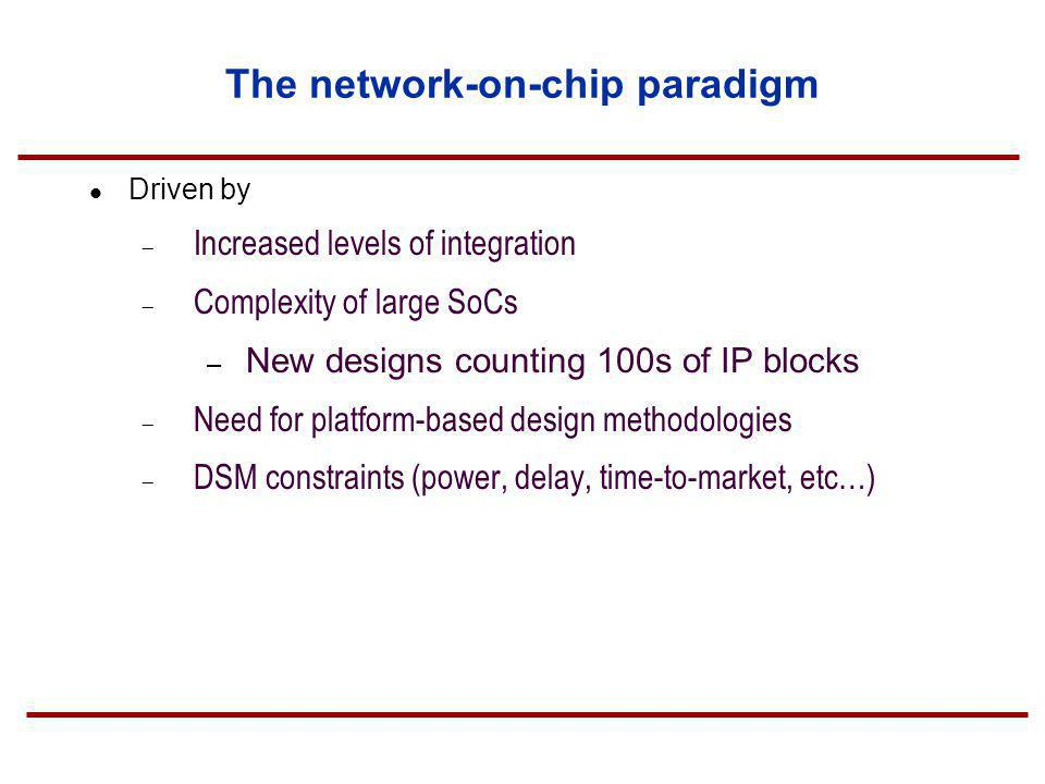 The network-on-chip paradigm