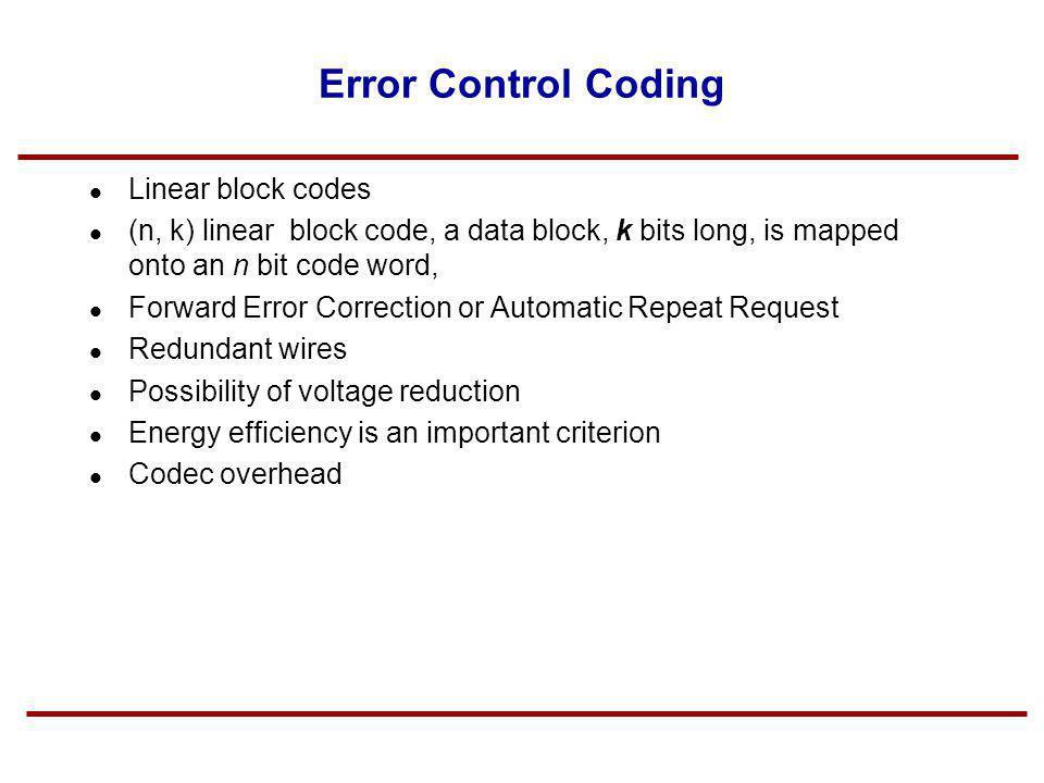 Error Control Coding Linear block codes