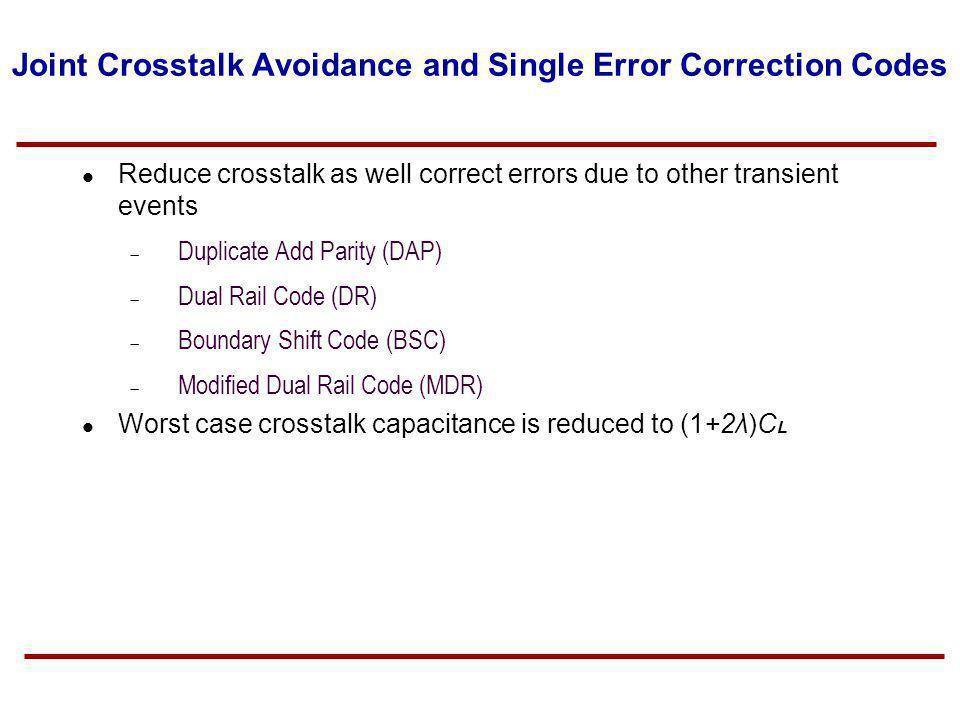 Joint Crosstalk Avoidance and Single Error Correction Codes