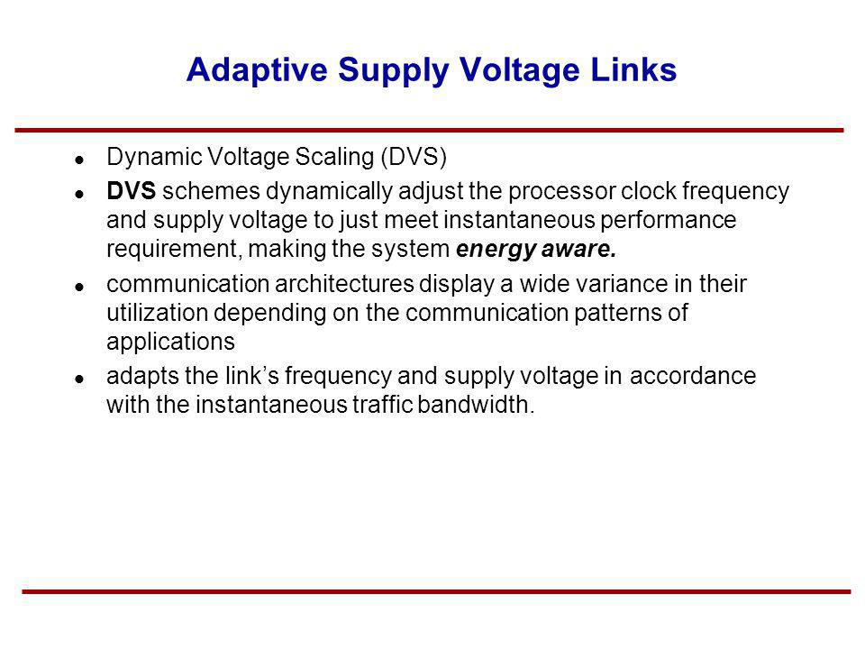 Adaptive Supply Voltage Links