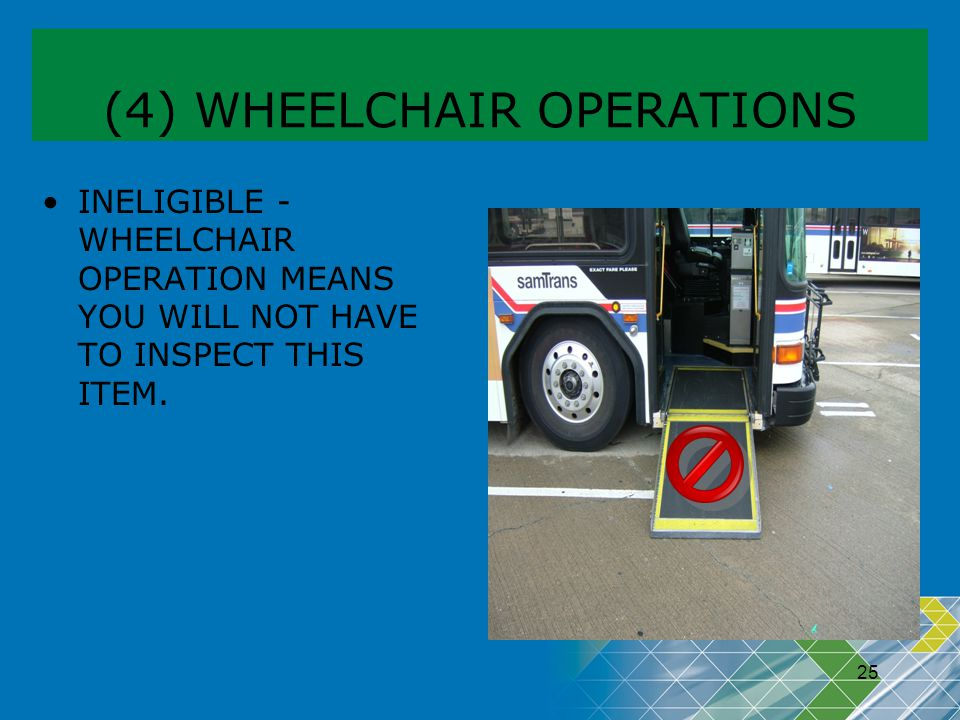 (4) WHEELCHAIR OPERATIONS