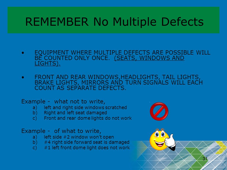 REMEMBER No Multiple Defects