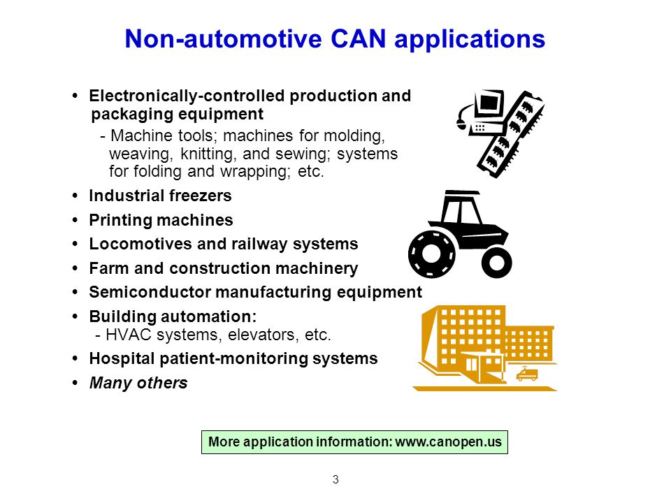 Non-automotive CAN applications