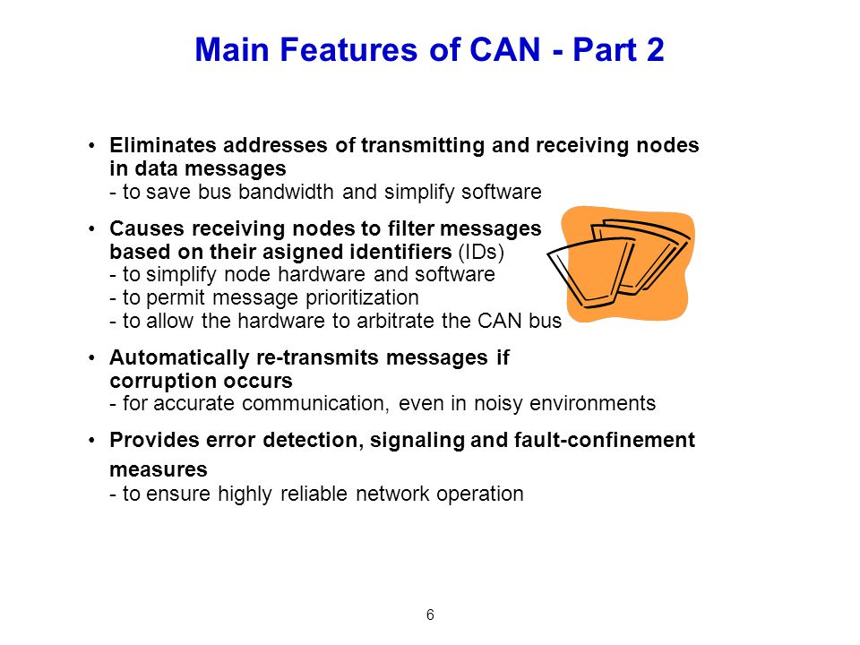 Main Features of CAN - Part 2