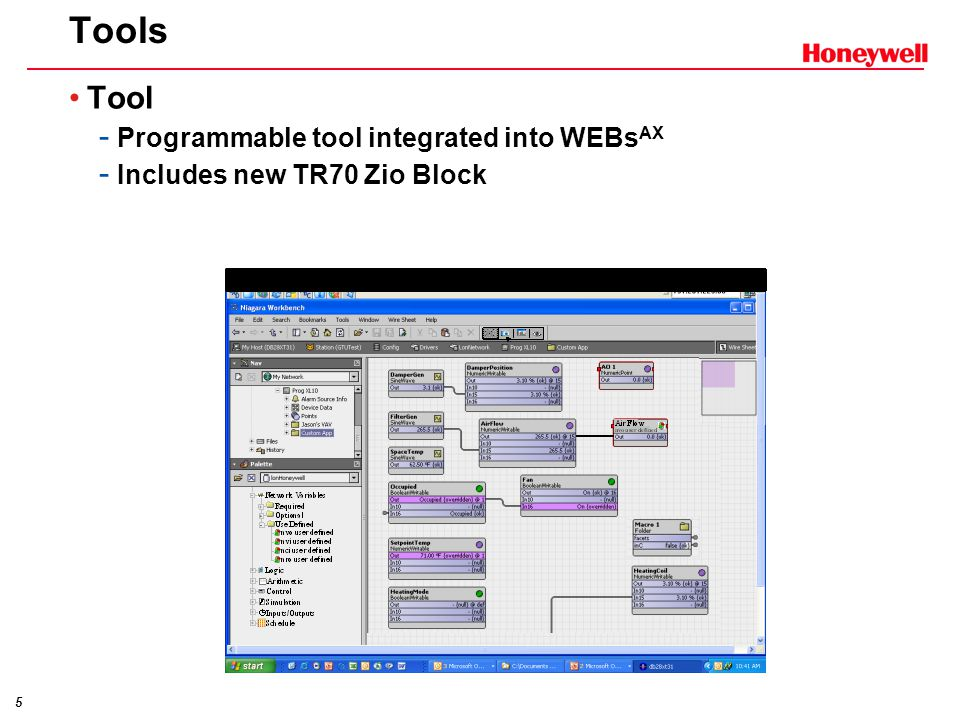 Tools Tool Programmable tool integrated into WEBsAX