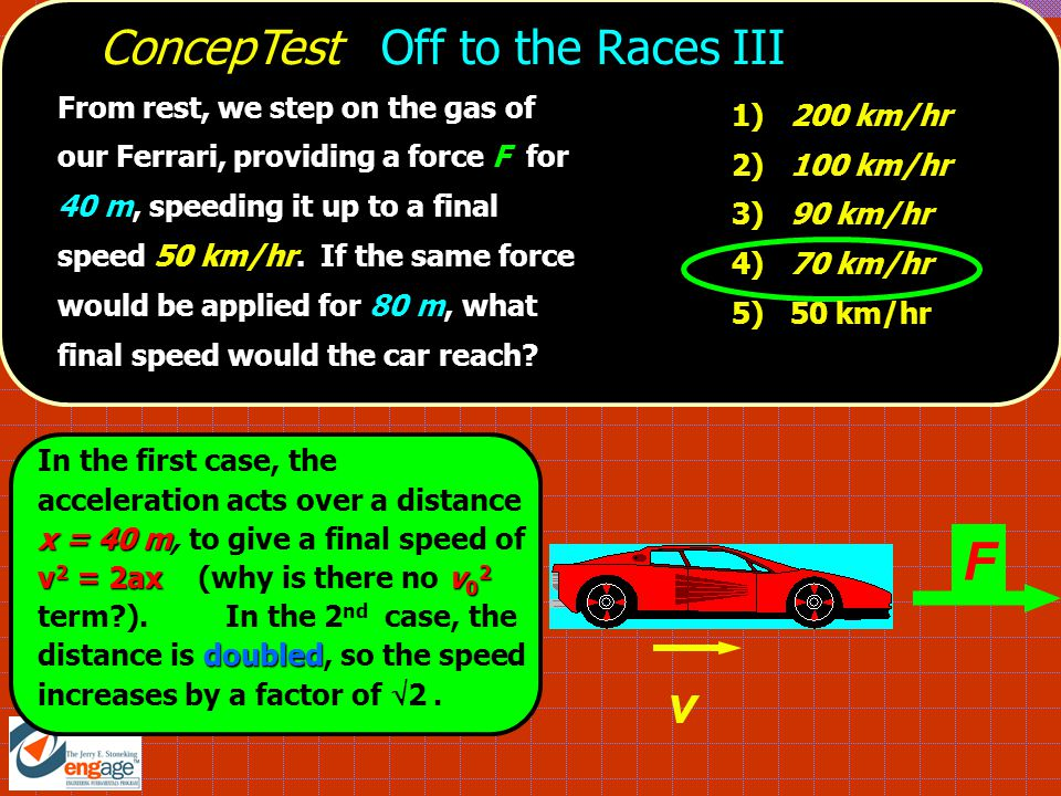 F v ConcepTest Off to the Races III