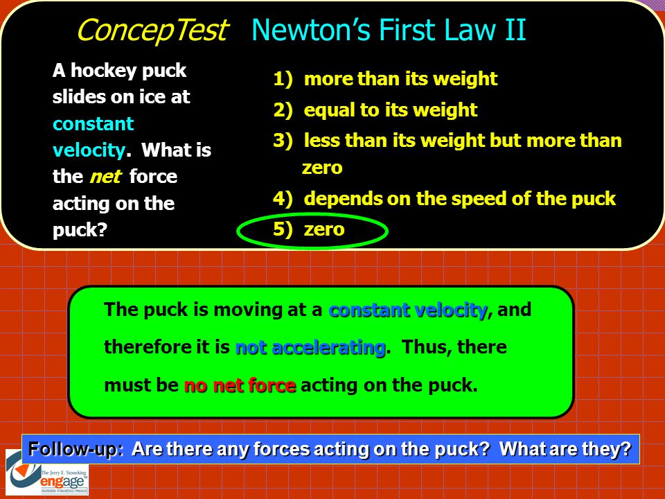 ConcepTest Newton's First Law II