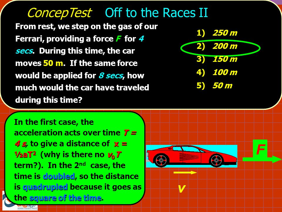 F v ConcepTest Off to the Races II