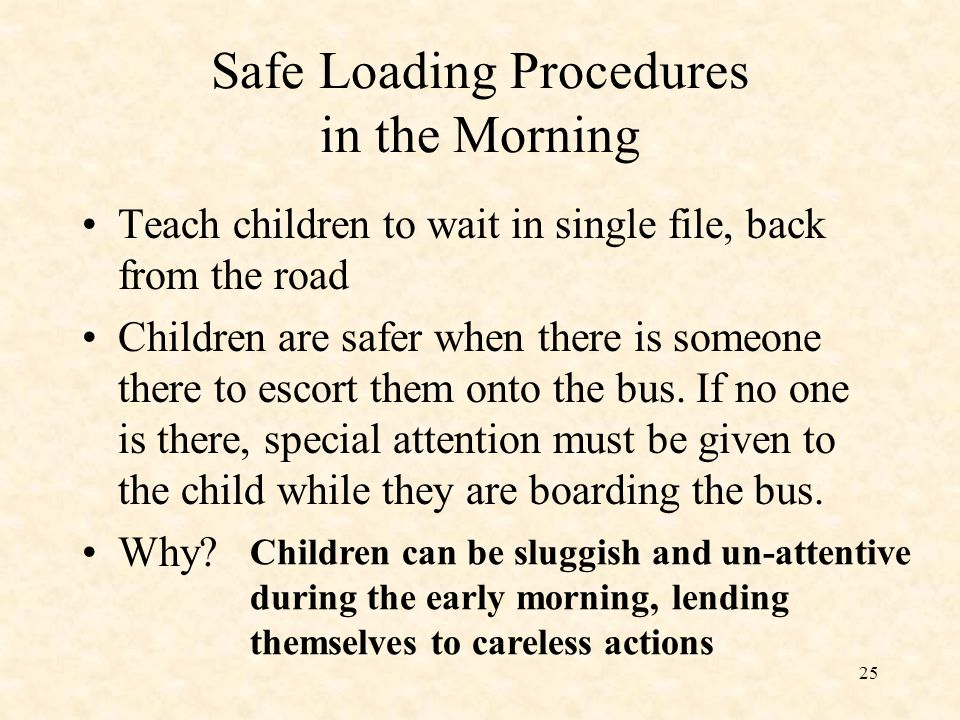 Safe Loading Procedures in the Morning