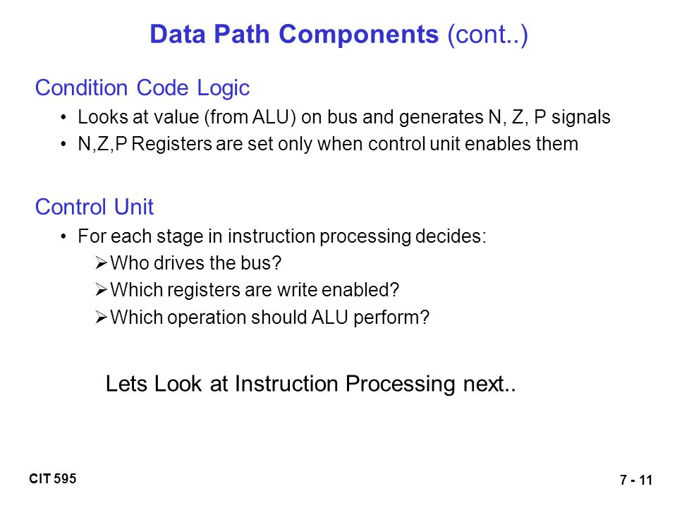 Data Path Components (cont..)