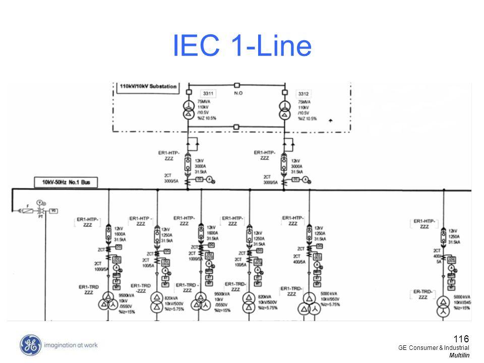 IEC 1-Line 116 GE Consumer & Industrial Multilin