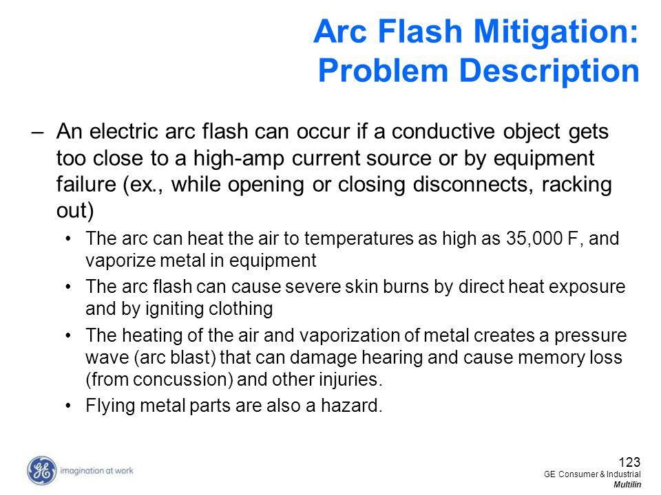 Arc Flash Mitigation: Problem Description