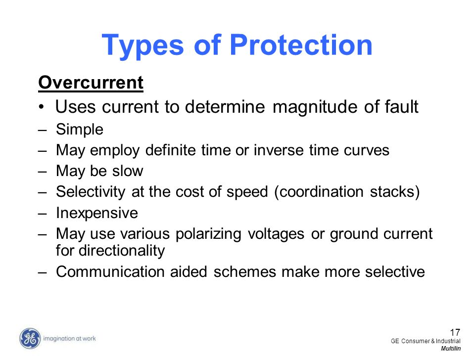 Types of Protection Overcurrent