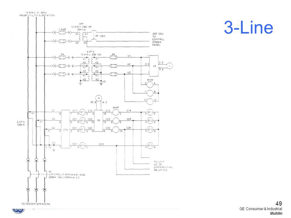 3-Line 49 GE Consumer & Industrial Multilin