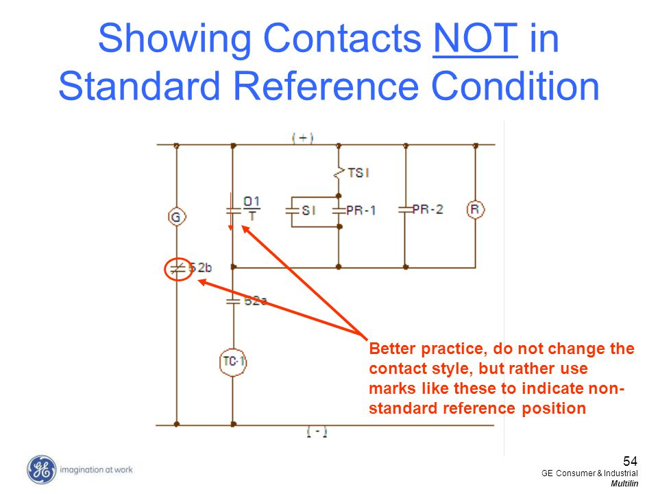 Showing Contacts NOT in Standard Reference Condition