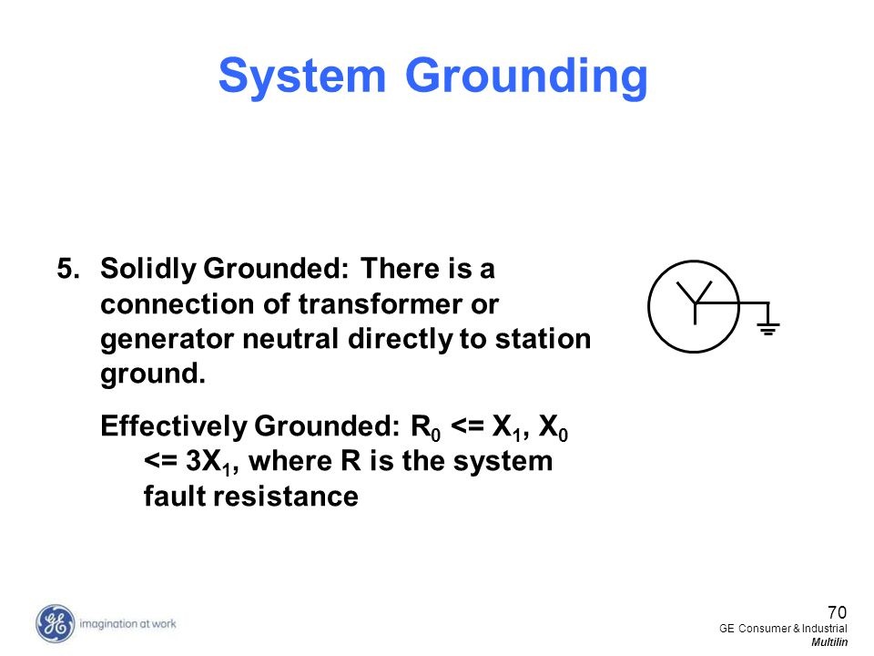 System Grounding Solidly Grounded: There is a connection of transformer or generator neutral directly to station ground.