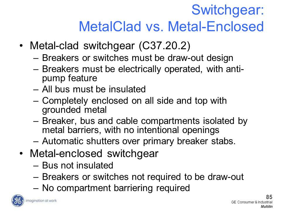 Switchgear: MetalClad vs. Metal-Enclosed
