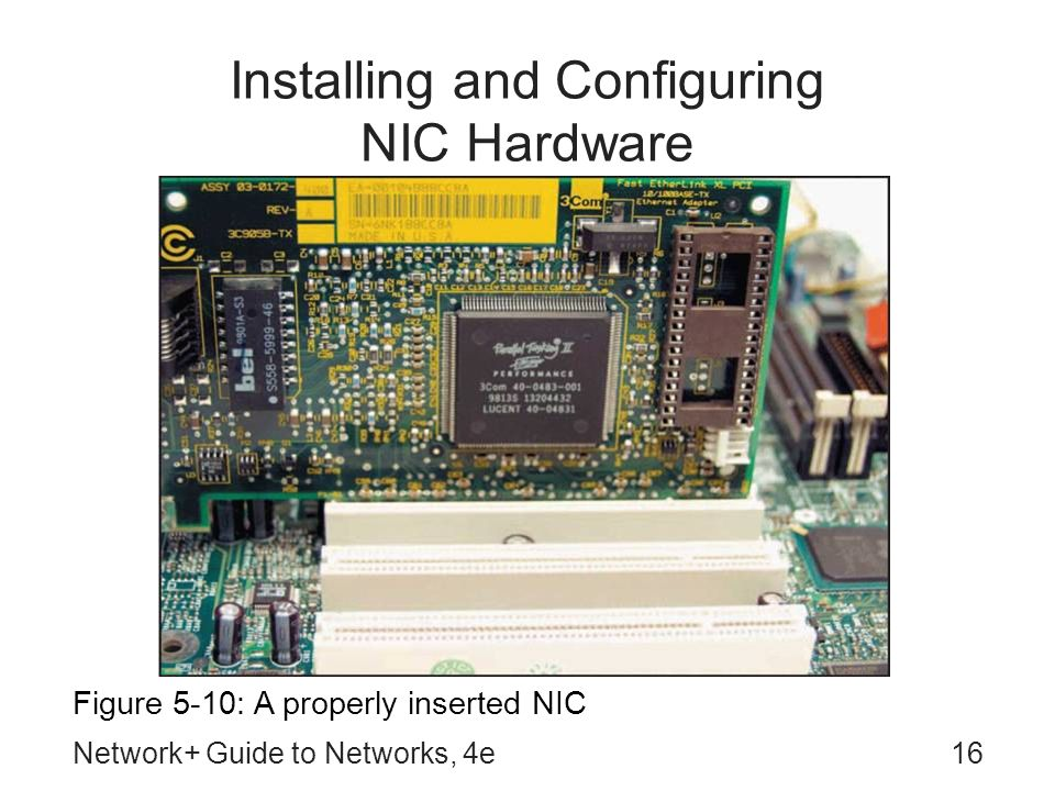 Installing and Configuring NIC Hardware