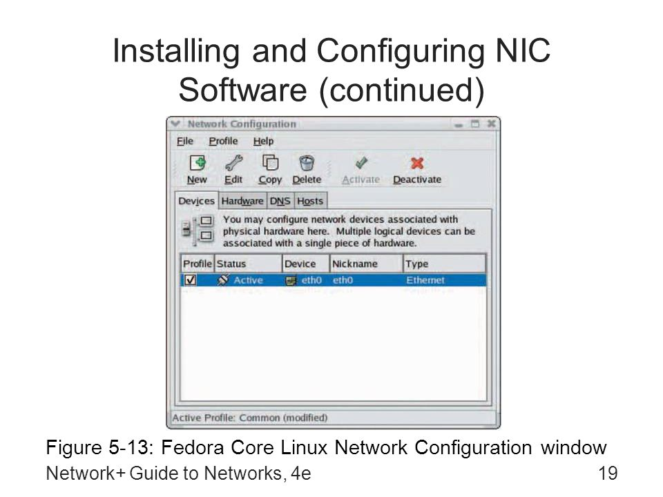 Installing and Configuring NIC Software (continued)