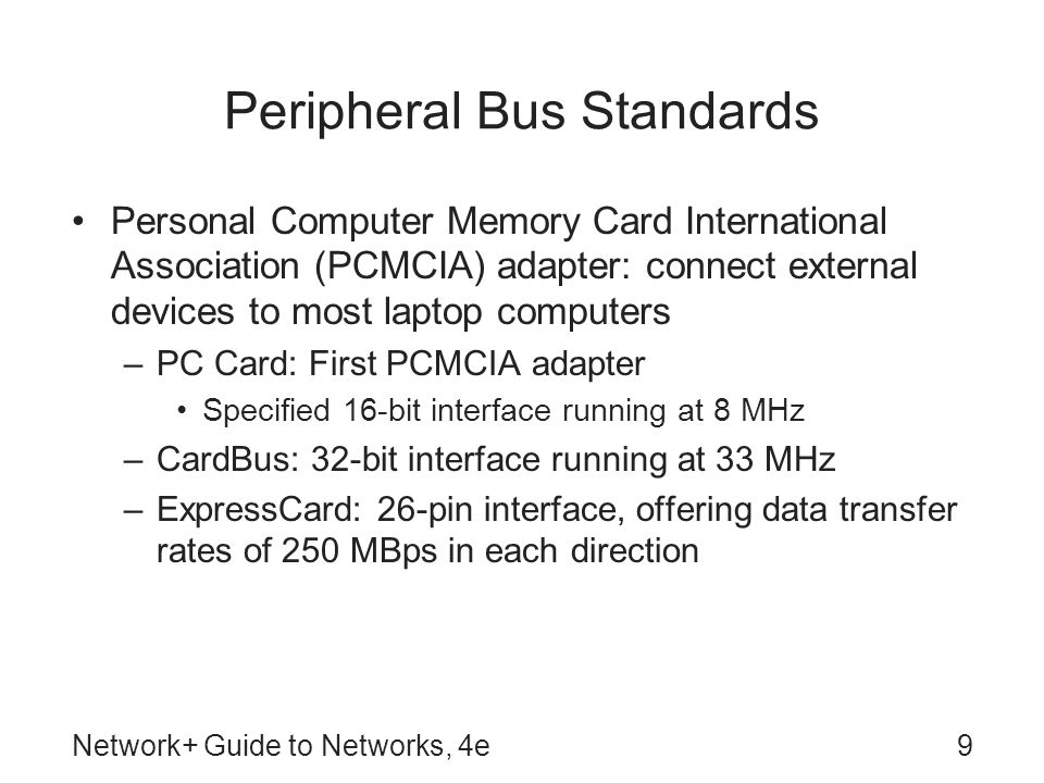 Peripheral Bus Standards