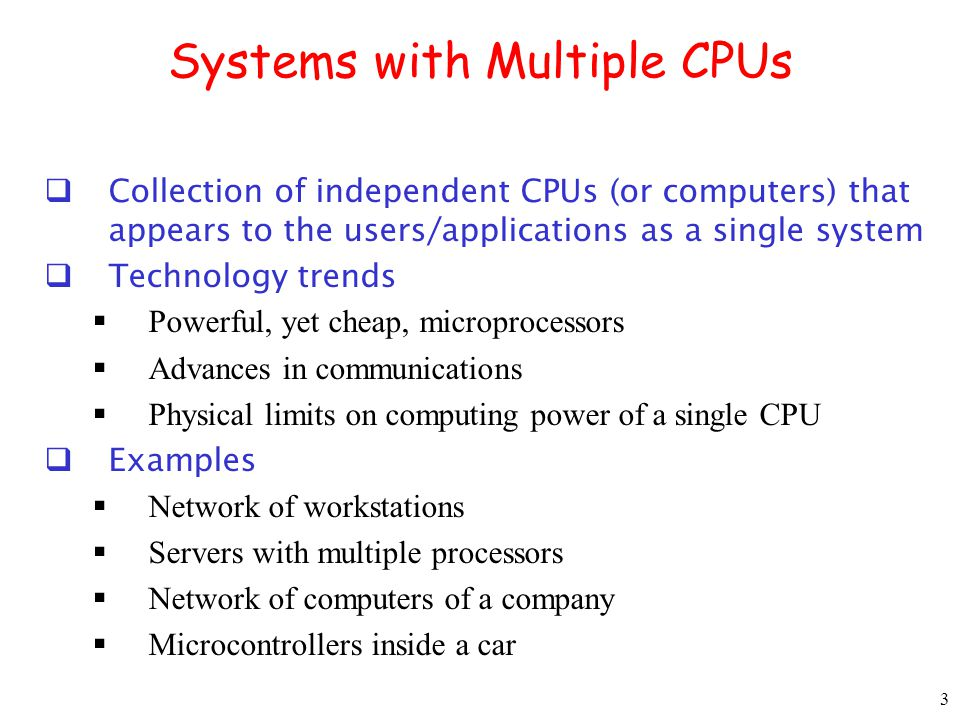 Systems with Multiple CPUs