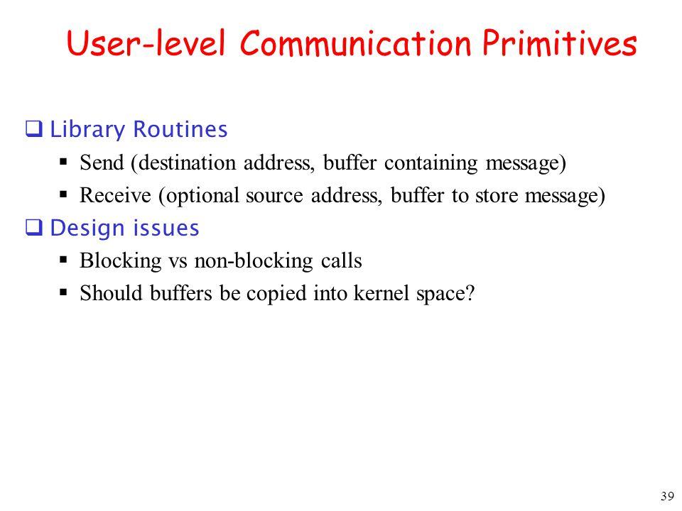 User-level Communication Primitives