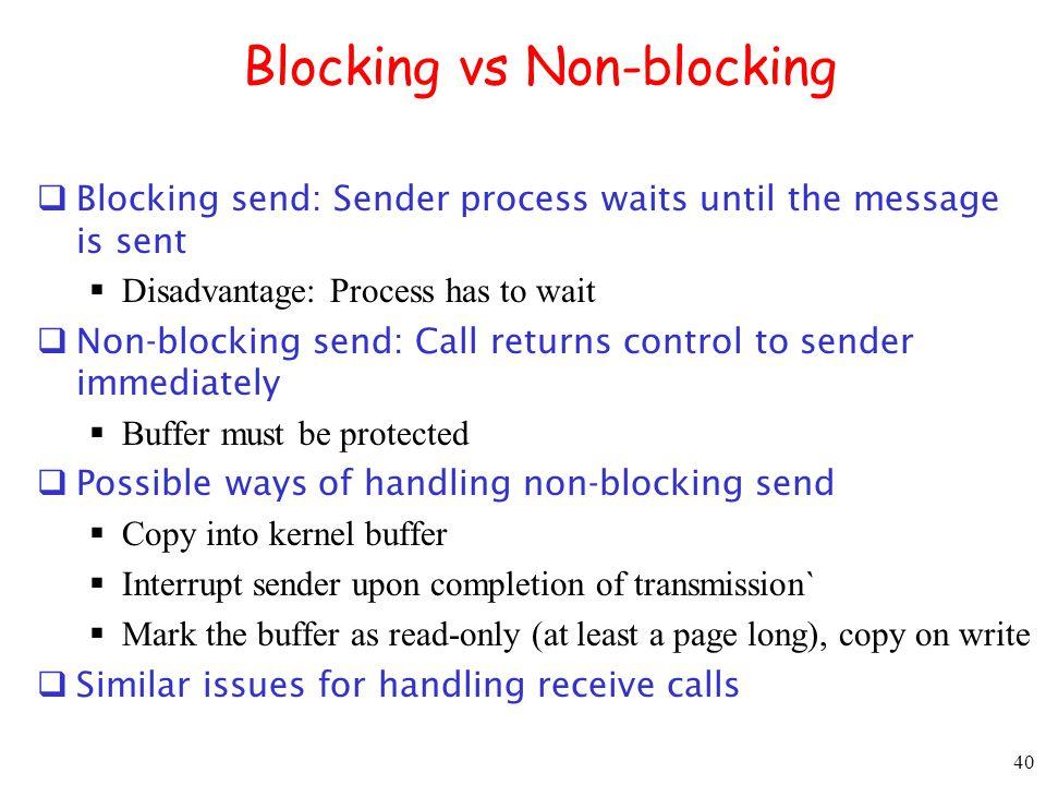 Blocking vs Non-blocking