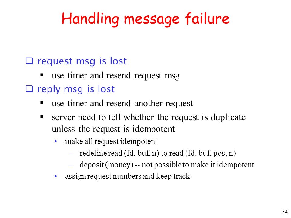 Handling message failure