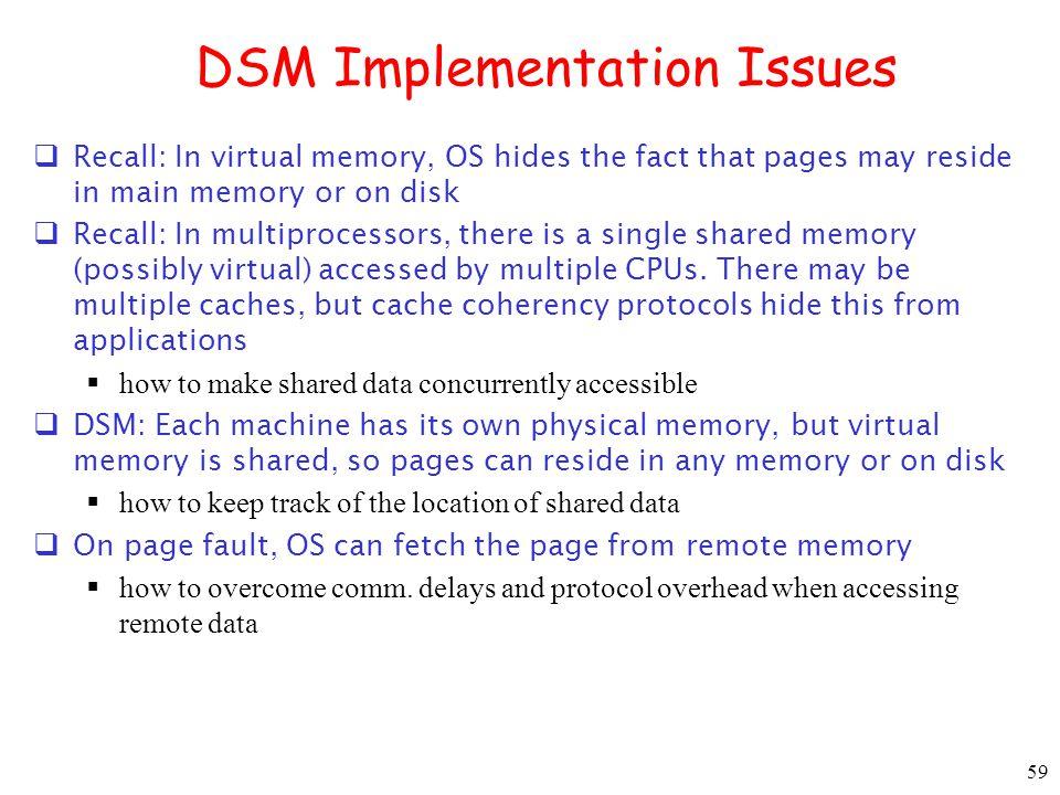 DSM Implementation Issues