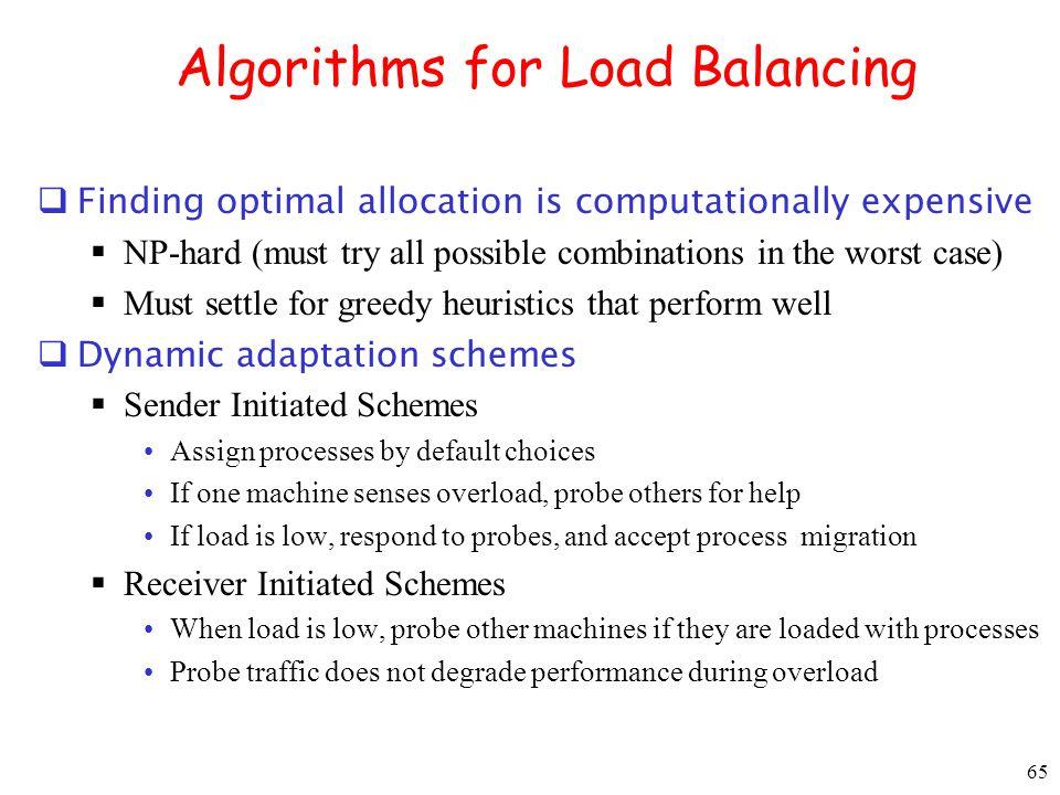 Algorithms for Load Balancing