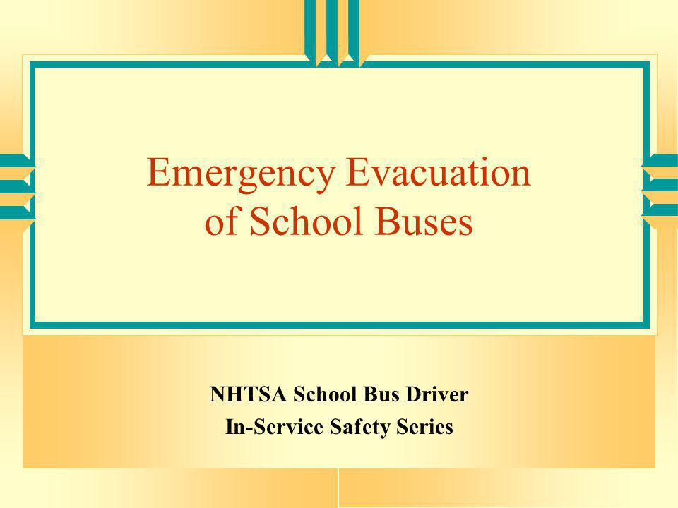 Emergency Evacuation of School Buses