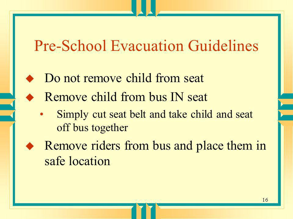 Pre-School Evacuation Guidelines