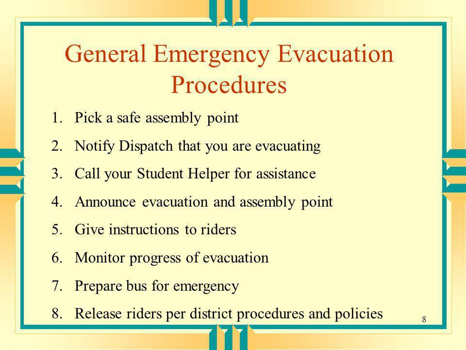 General Emergency Evacuation Procedures