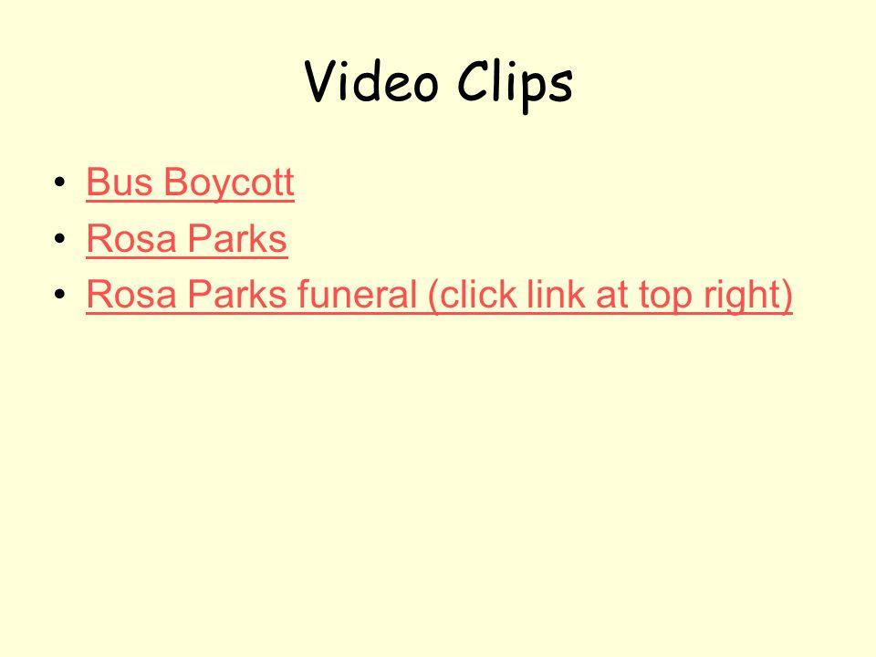 Video Clips Bus Boycott Rosa Parks
