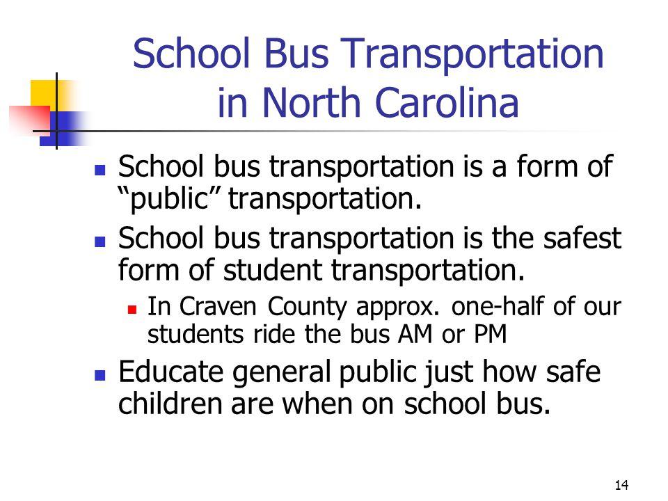 School Bus Transportation in North Carolina