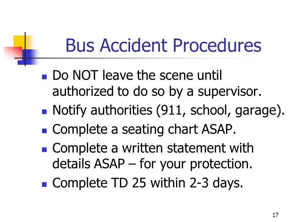 Bus Accident Procedures
