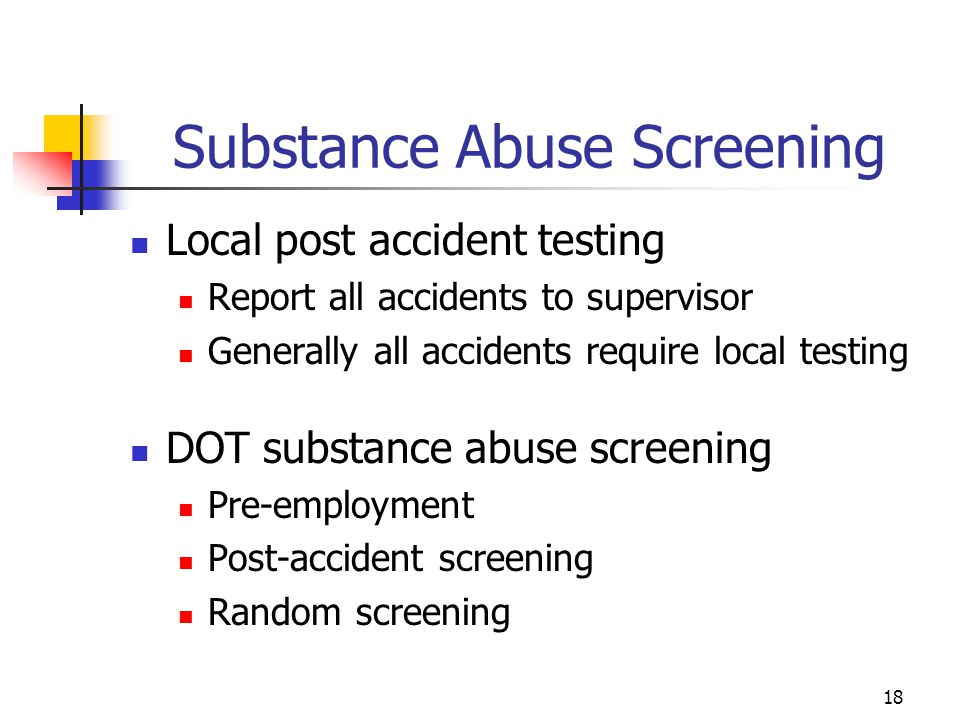 Substance Abuse Screening