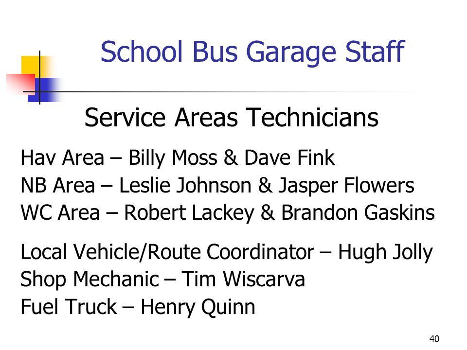 School Bus Garage Staff