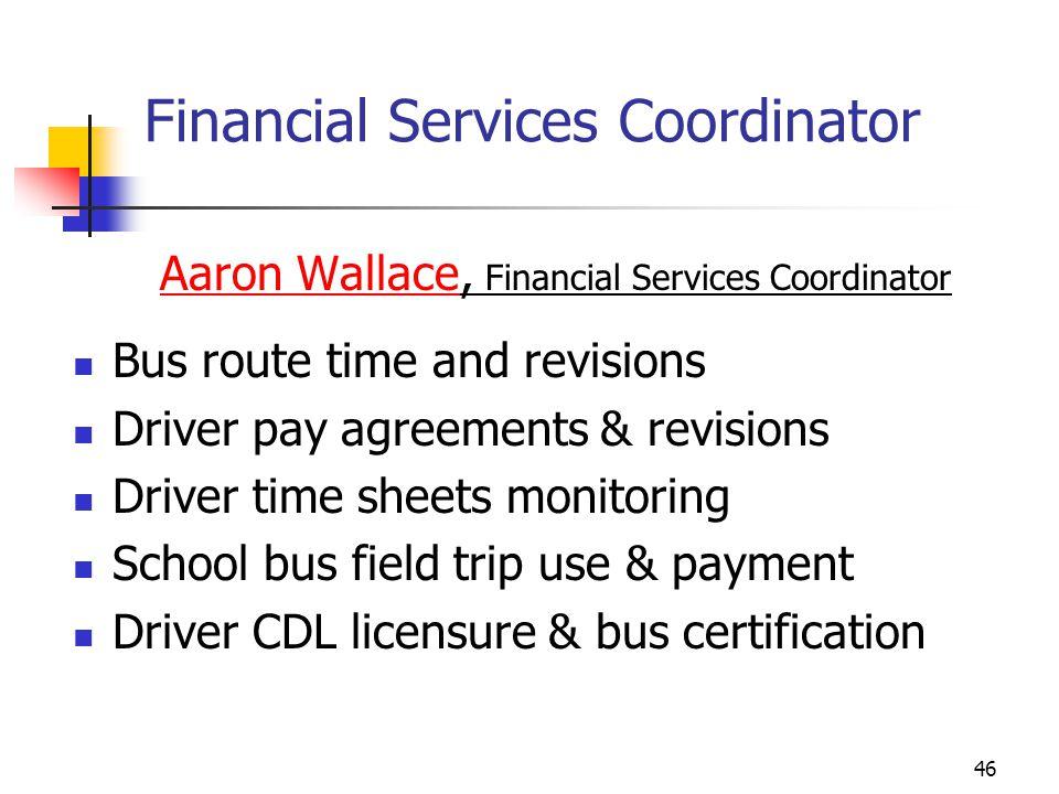 Financial Services Coordinator