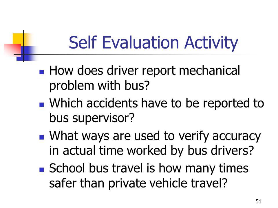 Self Evaluation Activity